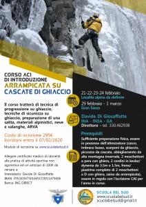CORSO AC1 Introduzione Arrampicata su Cascate di Ghiaccio